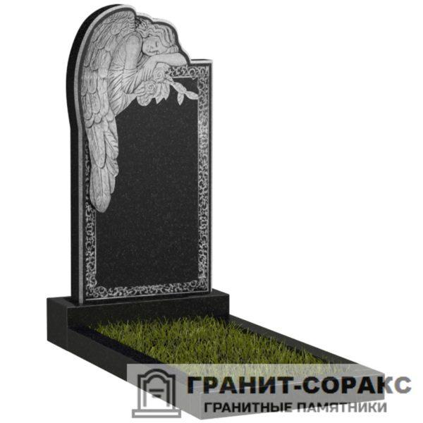 Мемориал из гранита с ангелом. Макет №14