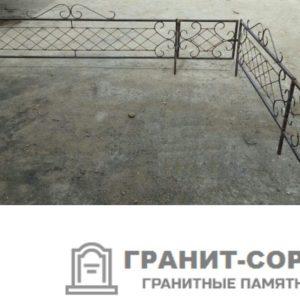 Фото металлической ограды для кладбища Вариант 102