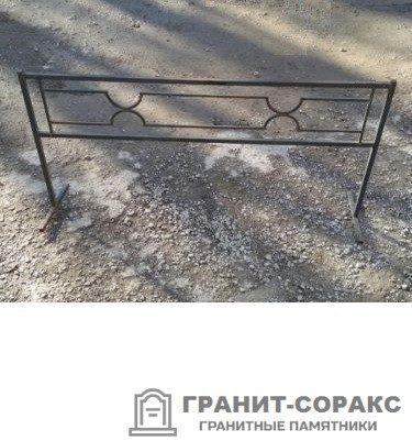 Фото металлической ограды для кладбища Вариант 103