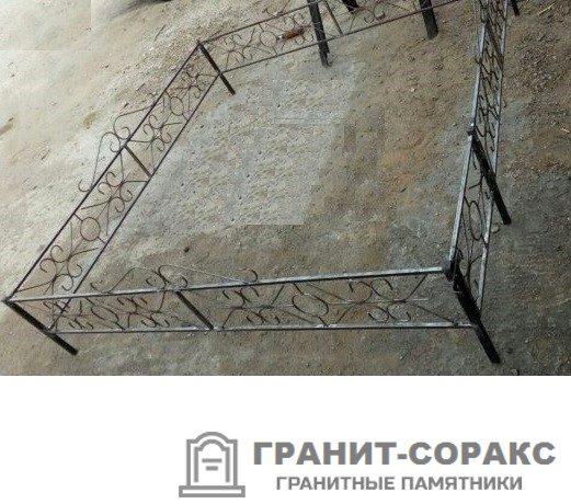 Фото металлической ограды для кладбища Вариант 104