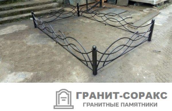 Фото металлической ограды для кладбища Вариант 105
