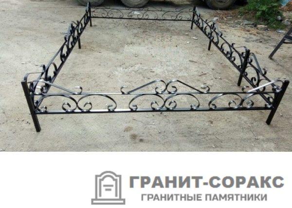 Фото металлической ограды для кладбища Вариант 106