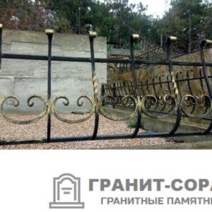 Фото металлической ограды для кладбища Вариант 109
