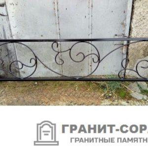 Фото металлической ограды для кладбища Вариант 110