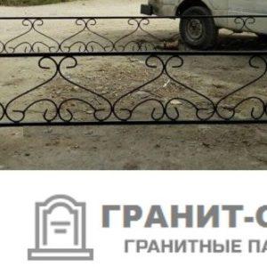 Фото металлической ограды для кладбища Вариант 111
