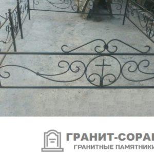 Фото металлической ограды для кладбища Вариант 112