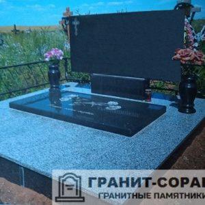 Фото №2. Цоколь на кладбище для обелиска.