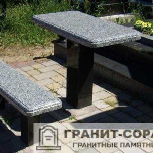 Столы и скамьи из гранита №1