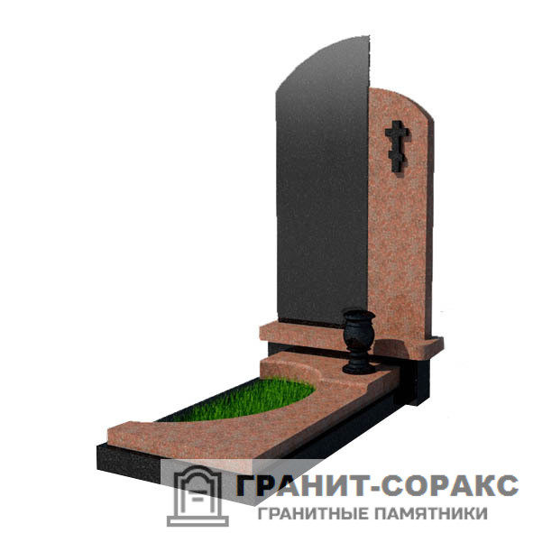 Фото №5. Памятник из разных видов камня.
